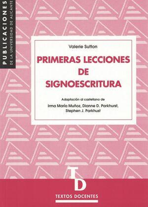 PRIMERAS LECCIONES DE SIGNOESCRITURA