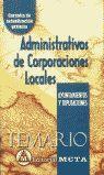 ADMINISTRATIVOS CORPORACIONES LOCALES: TEMARIO