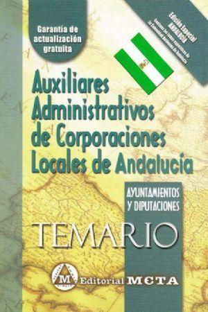 AUXILIARES DE ADMINISTRATIVO DE CORPORACIONES LOCALES DE LA COMUNIDAD  VALENCIANA. TEMARIO