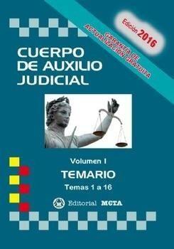 CUERPO DE AUXILIO JUDICIAL I TEMARIO