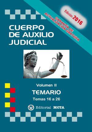 CUERPO DE AUXILIO JUDICIAL II TEMARIO