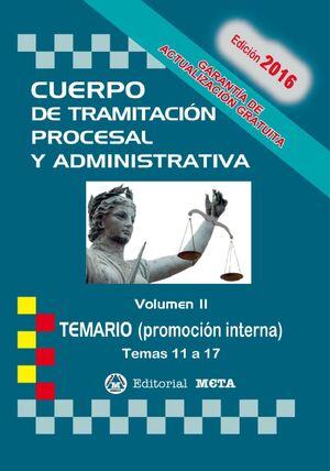 CUERPO DE TRAMITACION PROCESAL P. INTERNA II TEMARIO