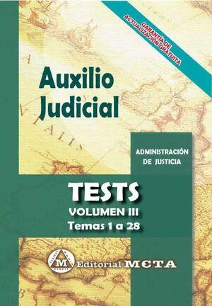AUXILIO JUDICIAL. TESTS VOL. III