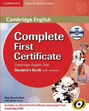 COMPLETE FIRST CERTIFICATE FOR SPANISH SPEAKERS WITH ANSWERS & CD-ROM