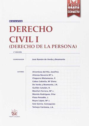 DERECHO CIVIL I DERECHO DE LA PERSONA 2ª ED. 2016