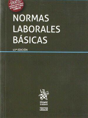 NORMAS LABORALES BÁSICAS 13ª EDICIÓN