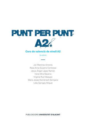 PUNT PER PUNT. A2