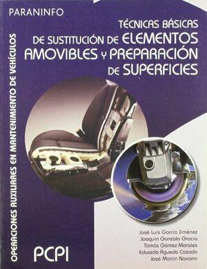 TÉCNICAS BÁSICAS DE SUSTITUCIÓN DE ELEMENTOS AMOVIBLES Y PREPARACIÓN DE SUPERFIC